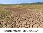 global warming  drought in the... | Shutterstock . vector #392220364