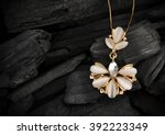 jewelry pendant with gems on... | Shutterstock . vector #392223349