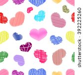 seamless pattern with  colorful ... | Shutterstock . vector #392225260