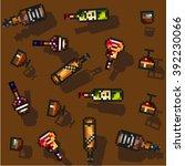 modern pixel art flat alcohol... | Shutterstock .eps vector #392230066