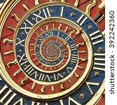 Old Gold Clock In Ruan As...