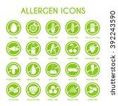 allergen icons vector set   Shutterstock .eps vector #392243590