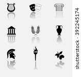 ancient greece. collection of... | Shutterstock . vector #392245174