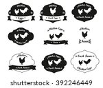 chicken farm labels collection. ... | Shutterstock .eps vector #392246449