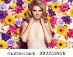 beautiful sensual woman in... | Shutterstock . vector #392253928