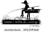 Fisher Boy Vector Illustration