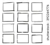 grunge frames isolated vector ... | Shutterstock .eps vector #392264776