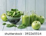Green Smoothie With Spinach An...