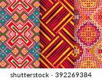 set of 3 abstract patterns.... | Shutterstock .eps vector #392269384
