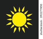 sun icon | Shutterstock .eps vector #392277850