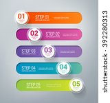 five steps infographics   can... | Shutterstock .eps vector #392280313