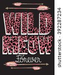 wild cats and arrows .slogan t... | Shutterstock .eps vector #392287234
