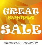 summer sale design template | Shutterstock .eps vector #392289049