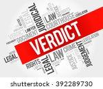 verdict word cloud concept | Shutterstock .eps vector #392289730