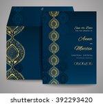 set of wedding cards.... | Shutterstock .eps vector #392293420