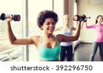 fitness  sport  training and...   Shutterstock . vector #392296750
