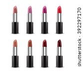 set of color lipsticks. red... | Shutterstock .eps vector #392297170