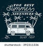 Vector Summer Surfing Retro...