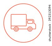 delivery van line icon. | Shutterstock .eps vector #392313094