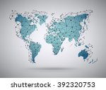cool vector abstract world map... | Shutterstock .eps vector #392320753