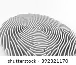 thumbprint in 3d depth of field | Shutterstock . vector #392321170