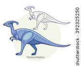 Постер, плакат: Parazaurolophus Ancient jurassic reptile