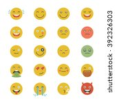 emoticons collection. set of... | Shutterstock .eps vector #392326303