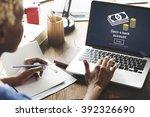 open a bank account banking... | Shutterstock . vector #392326690
