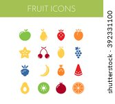 fruit icons. vector set of...
