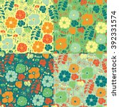 Seamless Floral Colorful...