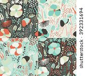 seamless colorful floral... | Shutterstock .eps vector #392331694