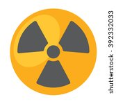 radioactivity  symbol of... | Shutterstock .eps vector #392332033