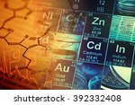 laboratory glassware and... | Shutterstock . vector #392332408