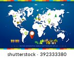 world map vector illustration... | Shutterstock .eps vector #392333380