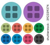 color large grid view flat icon ...
