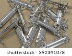 metal holder rings for sheets... | Shutterstock . vector #392341078