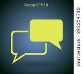 dialogue vector icon | Shutterstock .eps vector #392354710