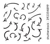 arrows vector hand drawn set...   Shutterstock .eps vector #392354899