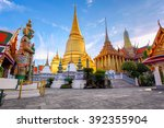 wat phra kaew ancient temple in ... | Shutterstock . vector #392355904
