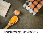 Double Yolk Egg In Wooden Ladl...