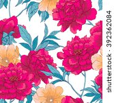 floral hand drawn vintage... | Shutterstock .eps vector #392362084