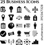 set of 25 business icons.... | Shutterstock .eps vector #392367328