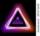 Neon Triangle Red Light  Vecto...