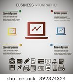business info graphic | Shutterstock .eps vector #392374324