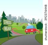 weekend city getaway   Shutterstock .eps vector #392376448