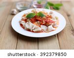 plates of traditional turkish... | Shutterstock . vector #392379850