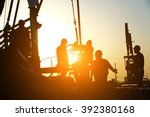 oil drilling exploration  the... | Shutterstock . vector #392380168