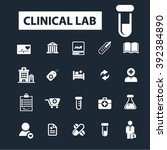 clinical lab icons  | Shutterstock .eps vector #392384890