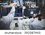 data privacy encrypted online...   Shutterstock . vector #392387443