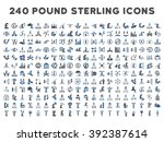240 british business icons.... | Shutterstock . vector #392387614